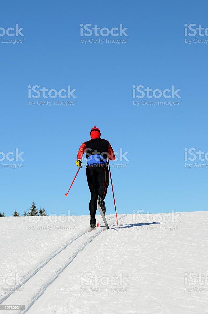 Cross country skier stock photo