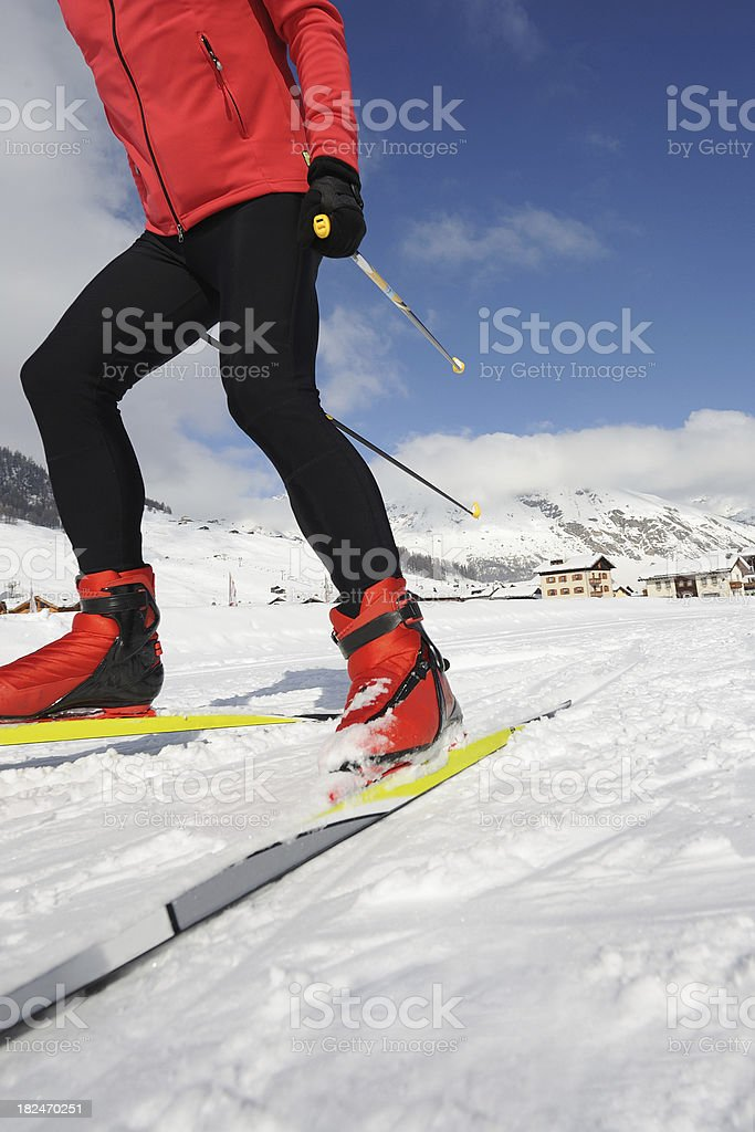 Cross country skier royalty-free stock photo