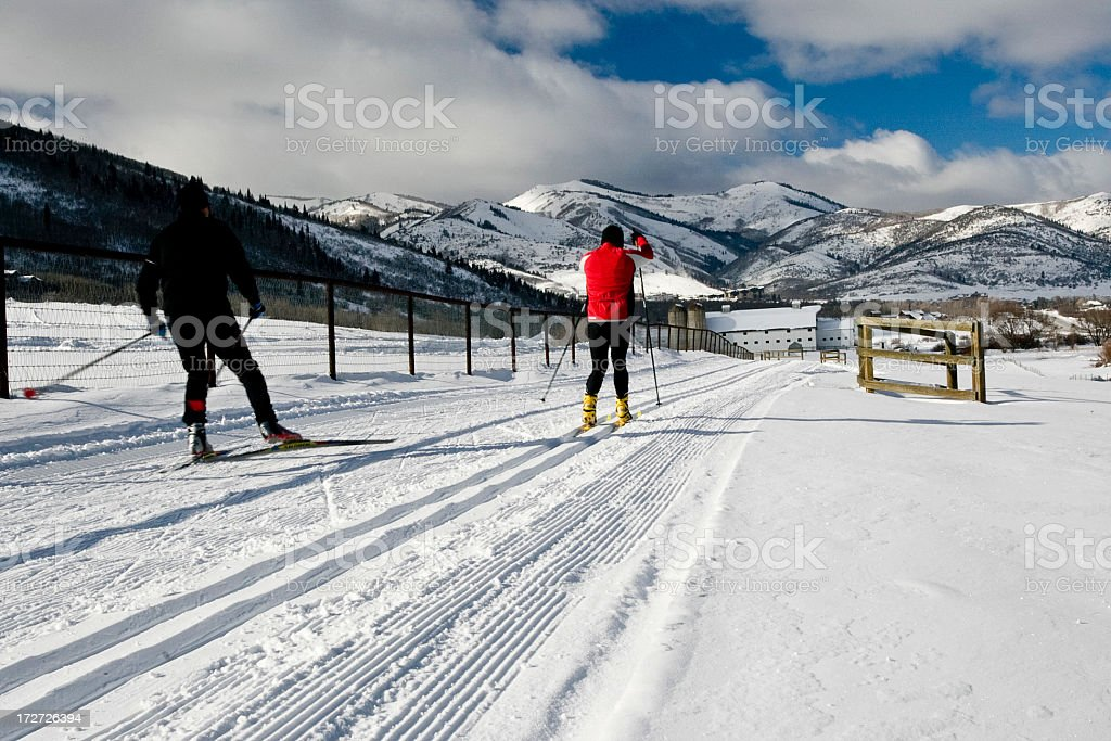 Cross Country Skiing - 2 stock photo