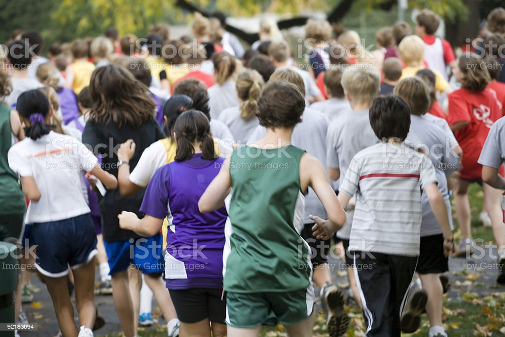 Cross Country Team Runners stock photo
