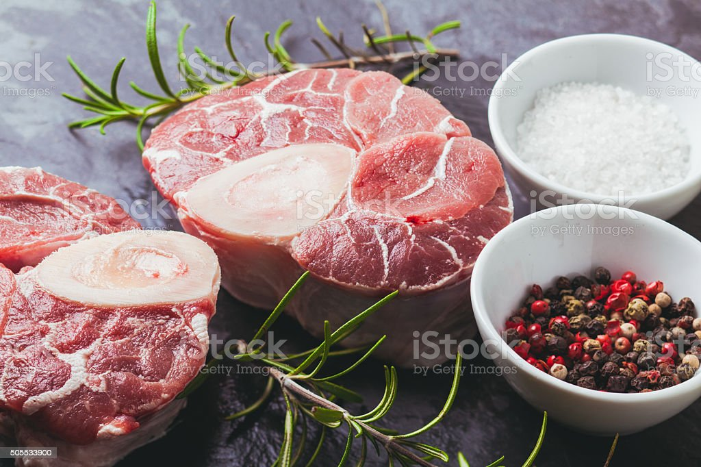 Cross cut veal shank stock photo