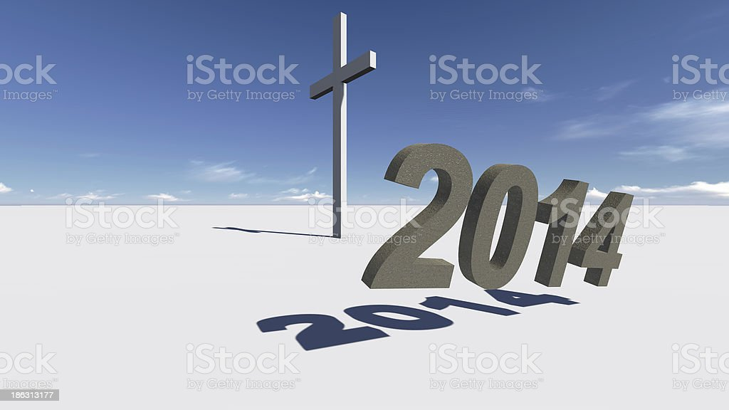 cross end 2014 royalty-free stock photo