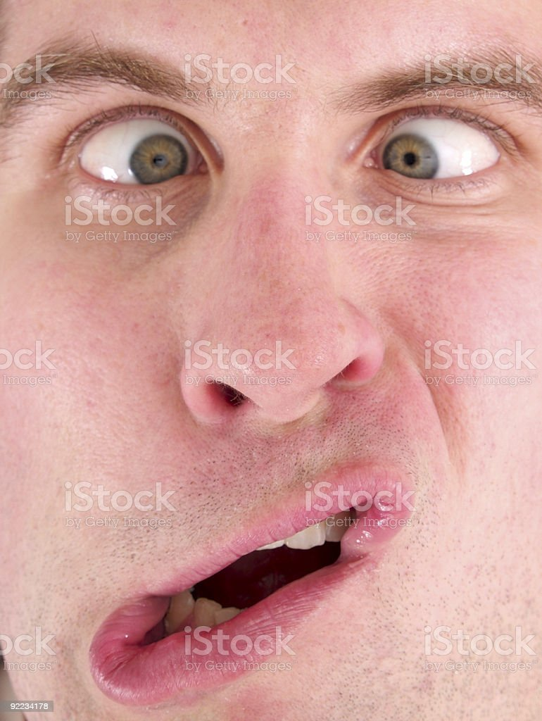 Cross Eyed Funny Face royalty-free stock photo