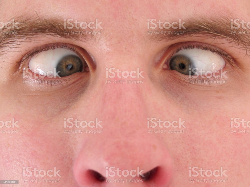 Cross Eyed stock photo