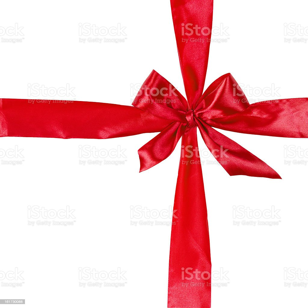 cross from red ribbow with bow royalty-free stock photo
