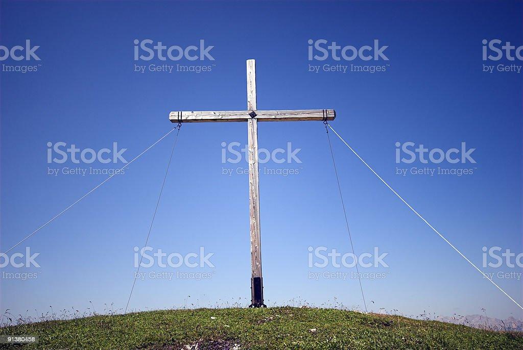 Cross High Up stock photo