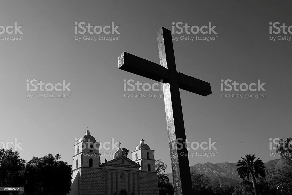 Cross in Black and White stock photo