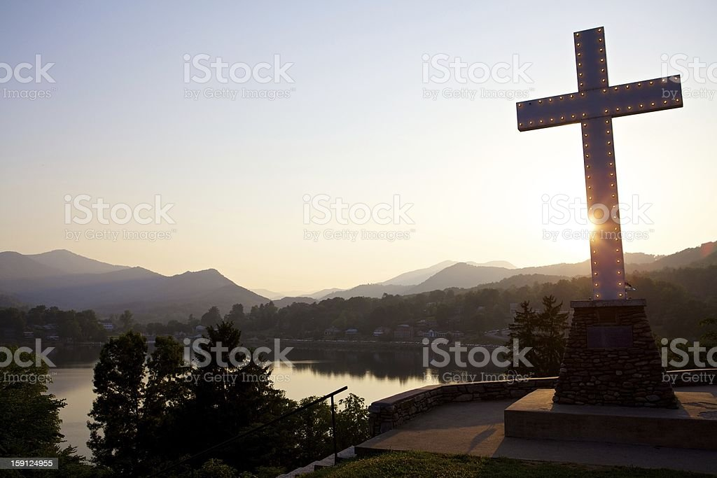 Cross In Mountains royalty-free stock photo
