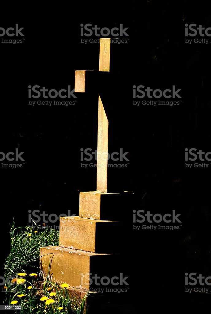 Cross in Shadow royalty-free stock photo