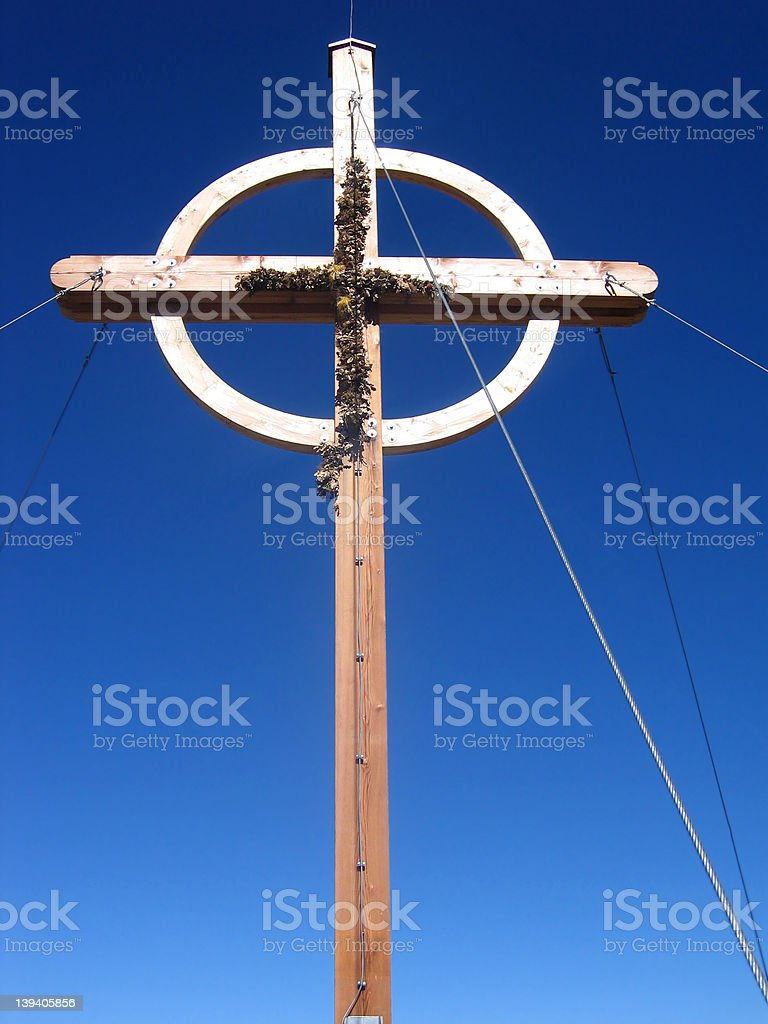 Cross in the mountains royalty-free stock photo
