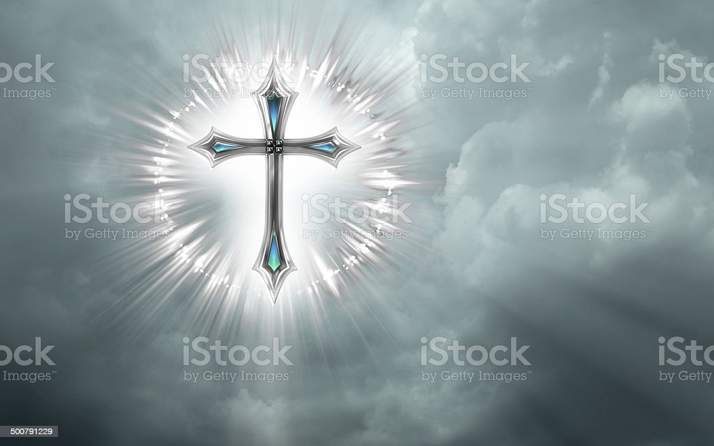 Cross in the sky royalty-free stock photo