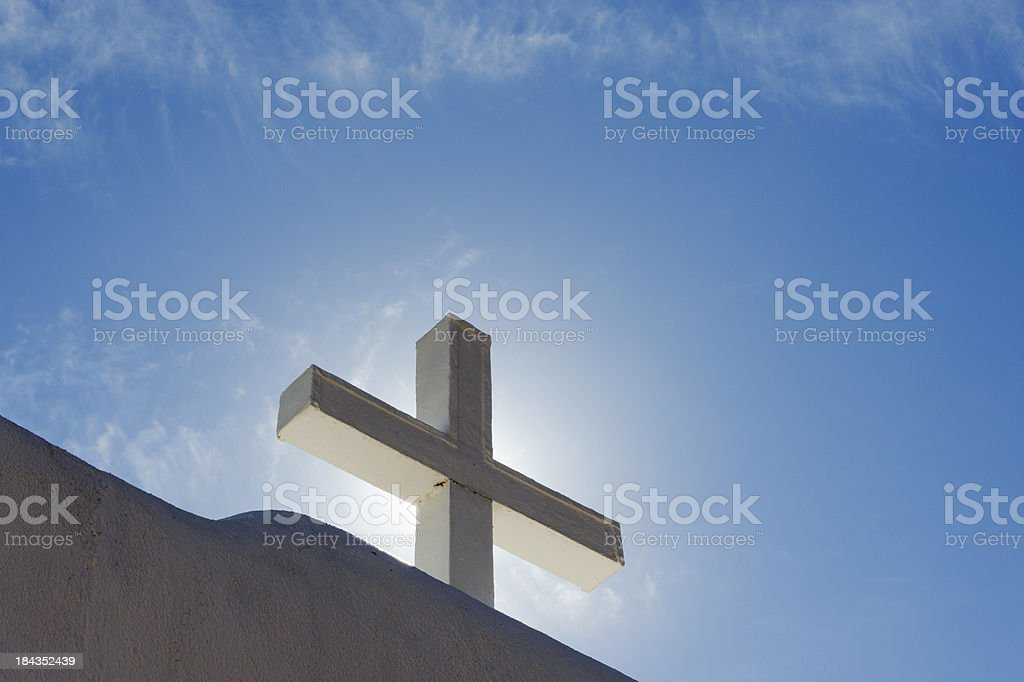 Cross in the Sun royalty-free stock photo