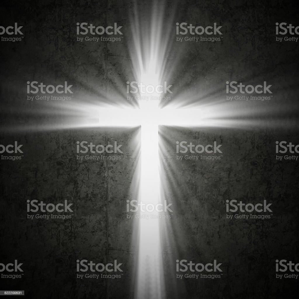 cross light stock photo