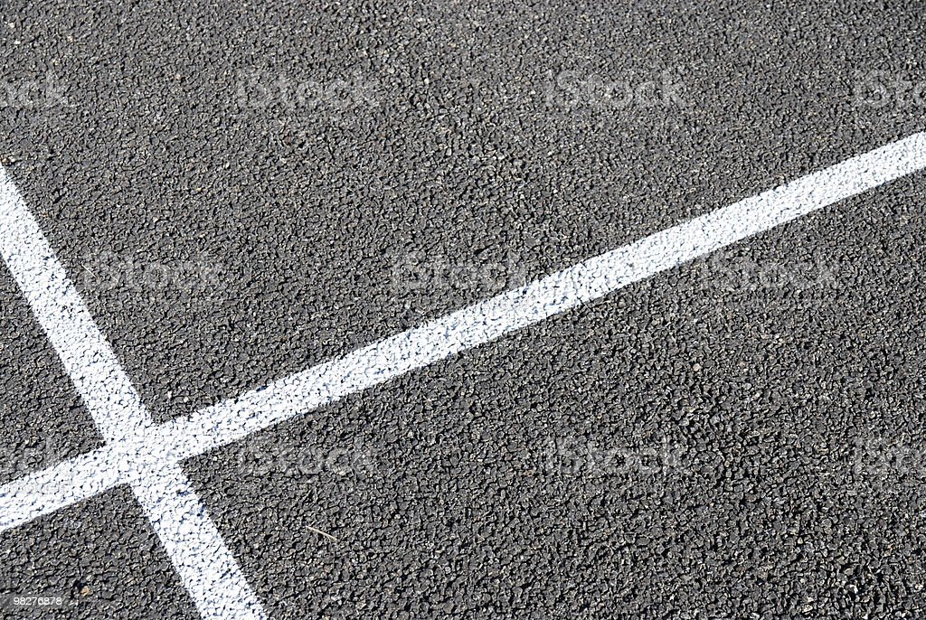 cross line on asphalt royalty-free stock photo