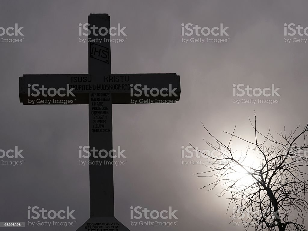 Cross Mountain, Mount Krizevac, , Medjugorje, Bosnia stock photo