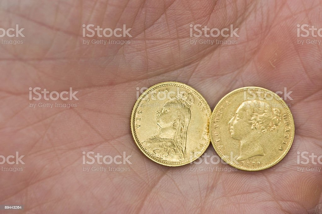 Cross My Palm With Gold stock photo
