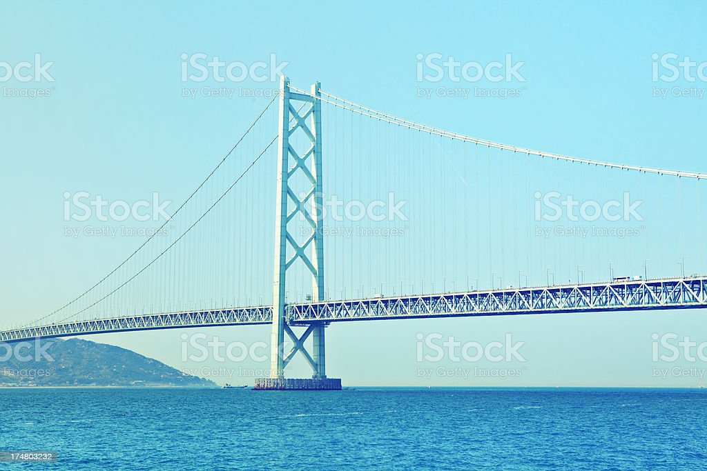 cross ocean bridge in Japan royalty-free stock photo