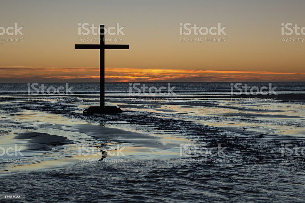 Cross Of Flowing Waters stock photo