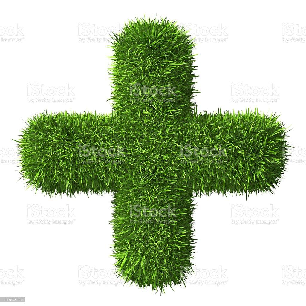 Cross of Grass stock photo