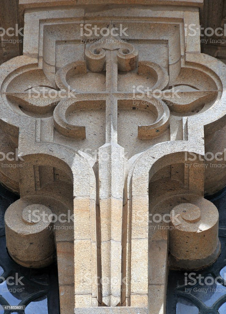 Cross of Saint James - Santiago de Compostela Cathedral, Galicia vector art illustration
