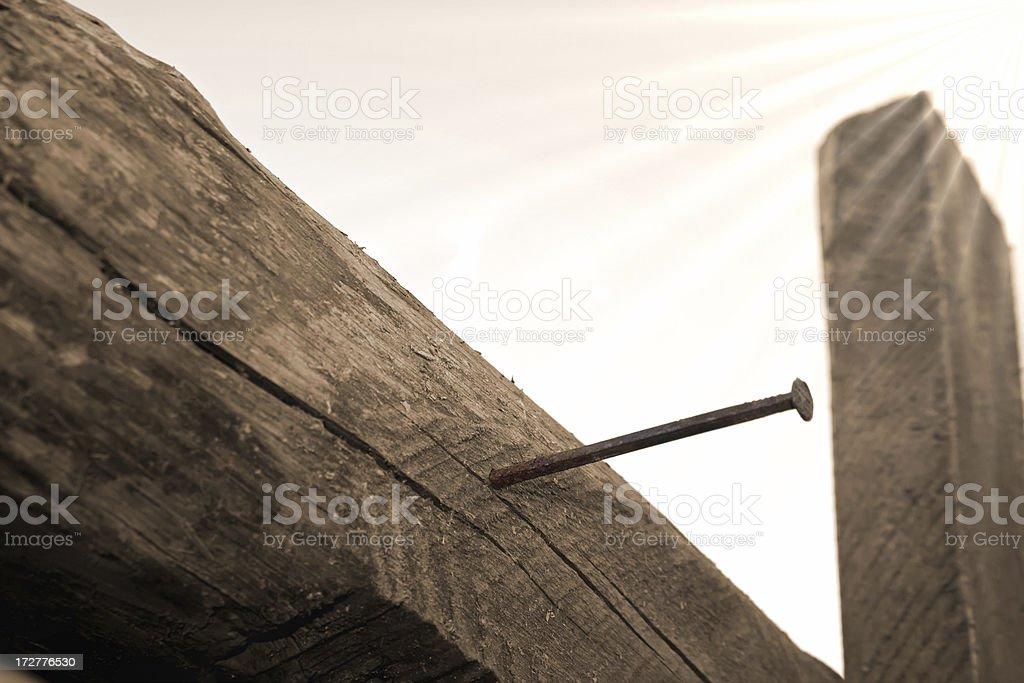 Cross of the Risen Jesus stock photo