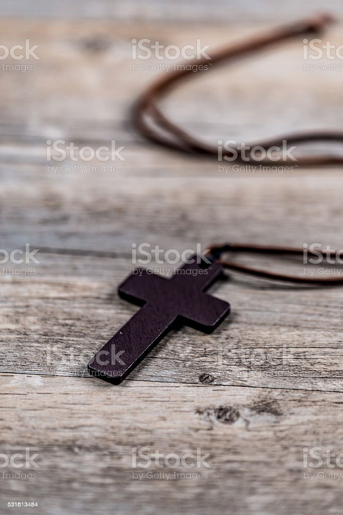 cross old wood wooden background stock photo