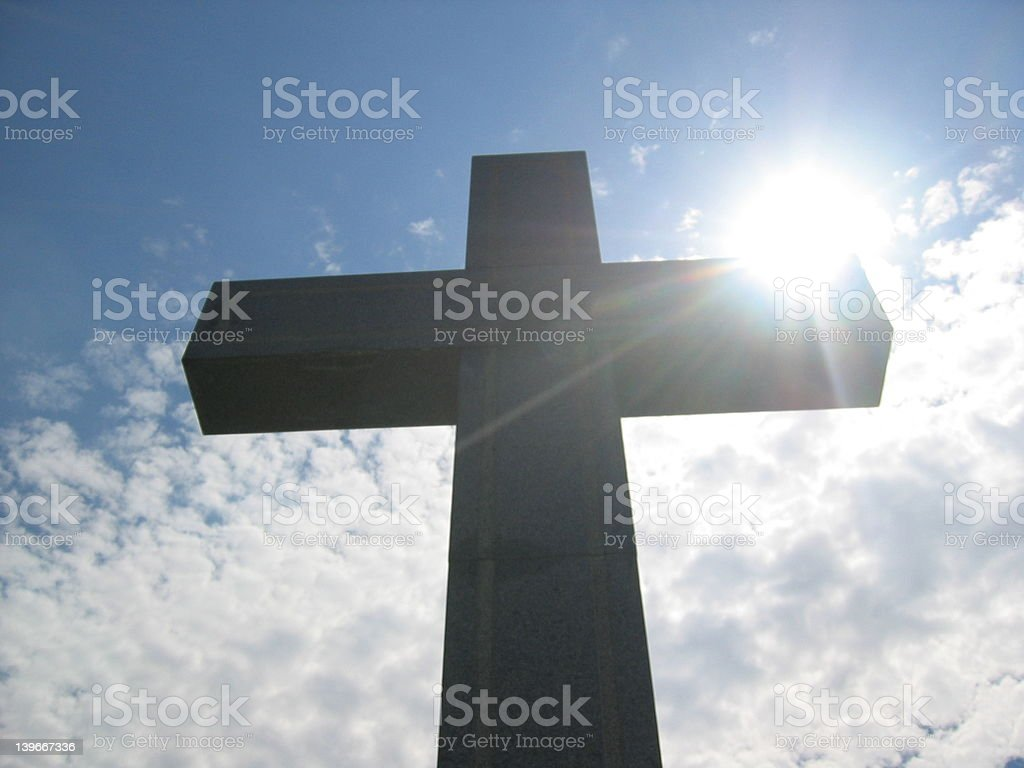 Cross on a hill, Budapest royalty-free stock photo