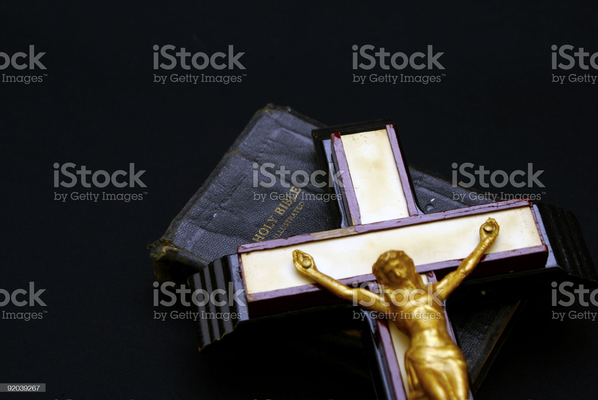 cross on bible royalty-free stock photo