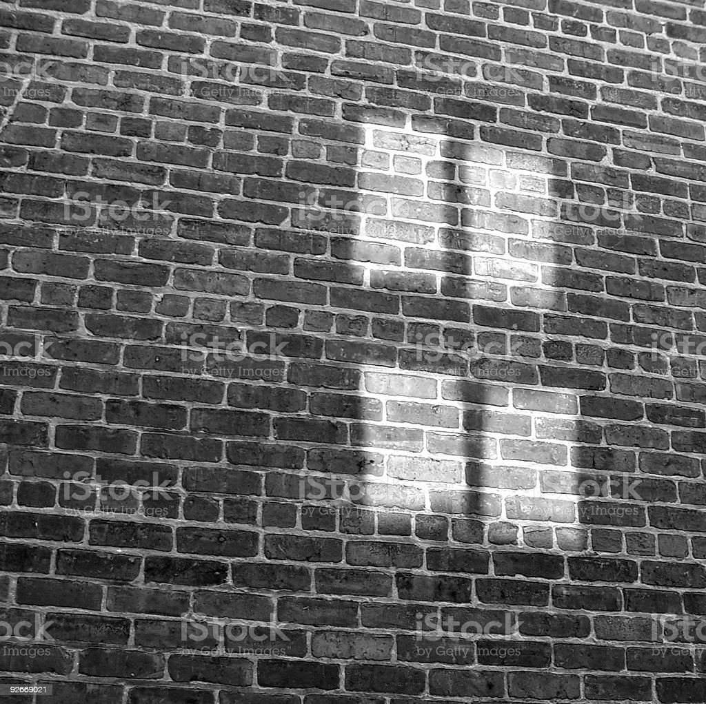 Cross on Brick (2005) stock photo