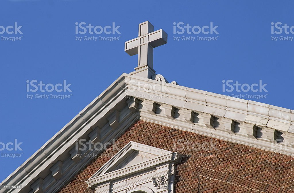 Cross on Building royalty-free stock photo