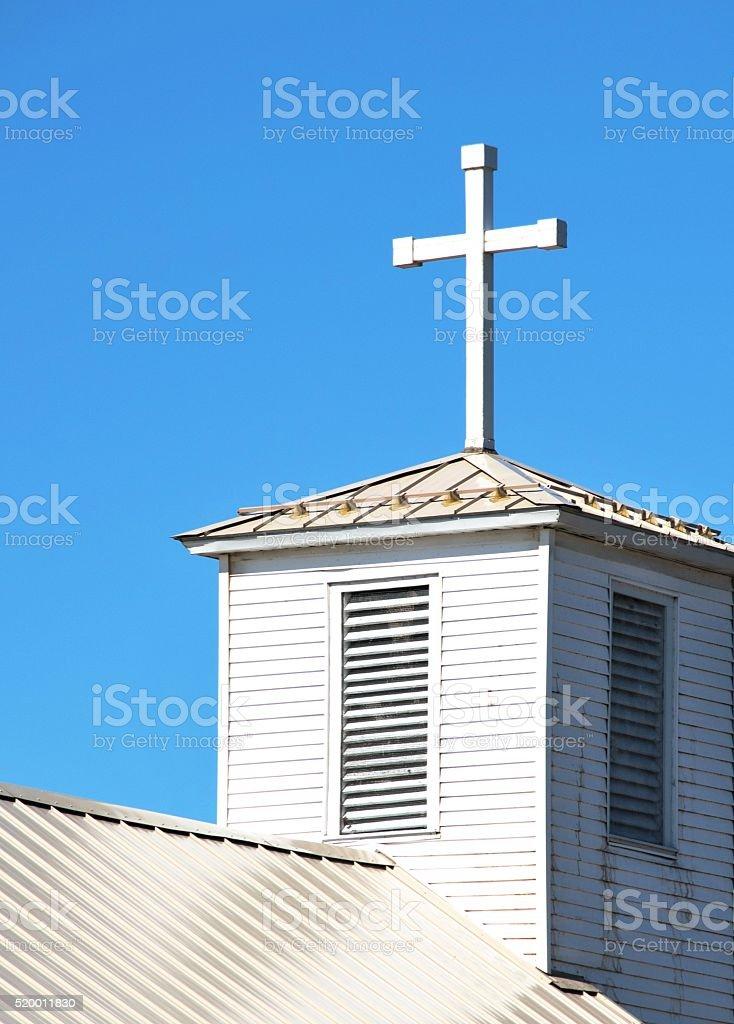 Cross on Church stock photo