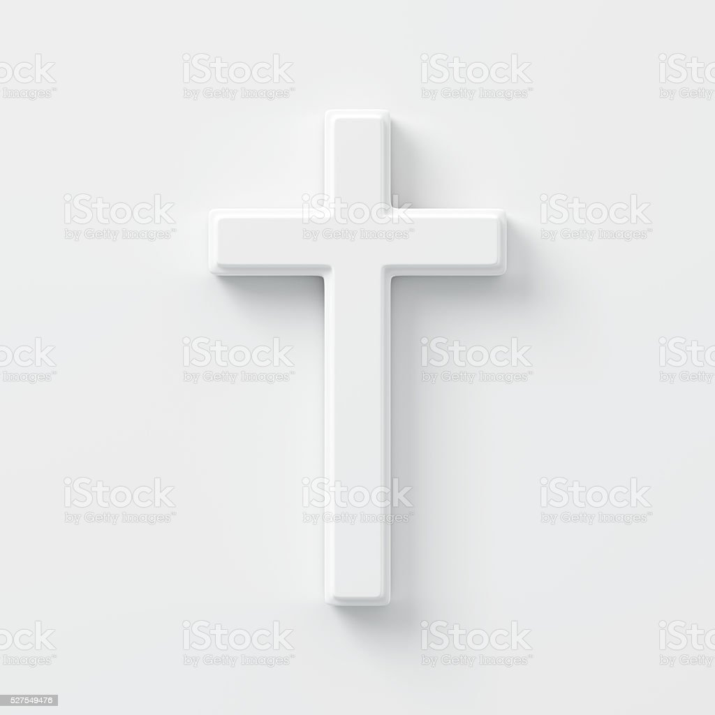 Cross On The Wall stock photo