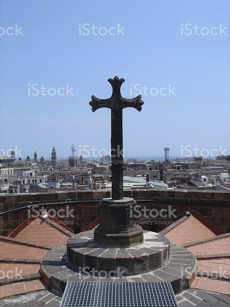 Cross over Barcelona royalty-free stock photo
