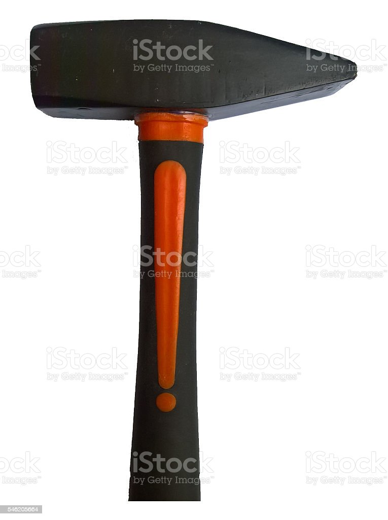 Cross Peen Hammer Isolated stock photo