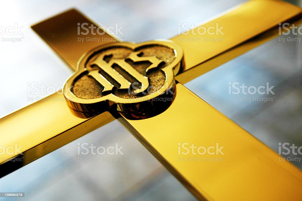 IHS Cross royalty-free stock photo