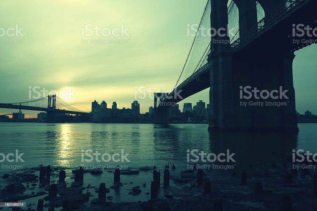 cross processed bridges royalty-free stock photo