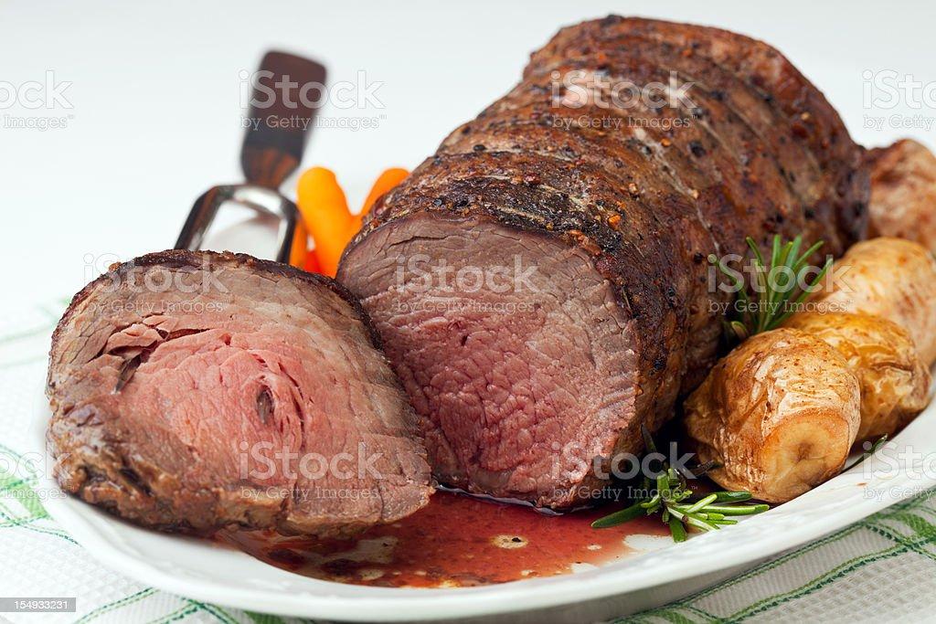 Cross Rib Beef Roast royalty-free stock photo