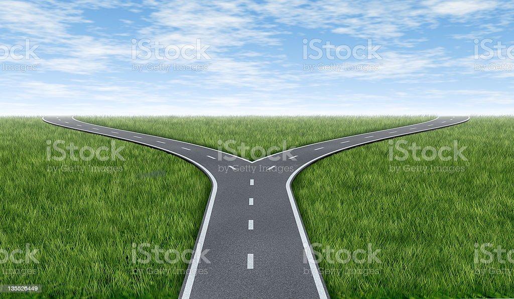 Cross roads horizon royalty-free stock photo