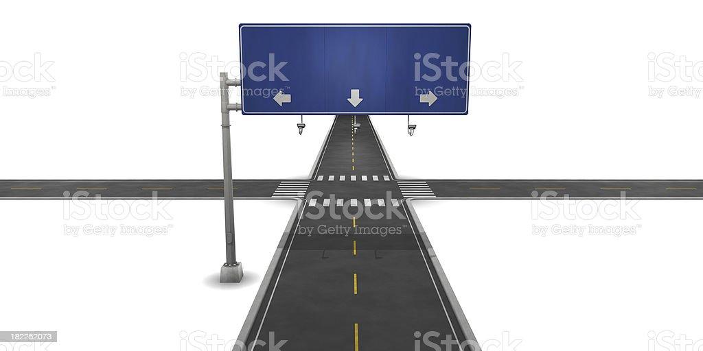 Cross Roads royalty-free stock photo