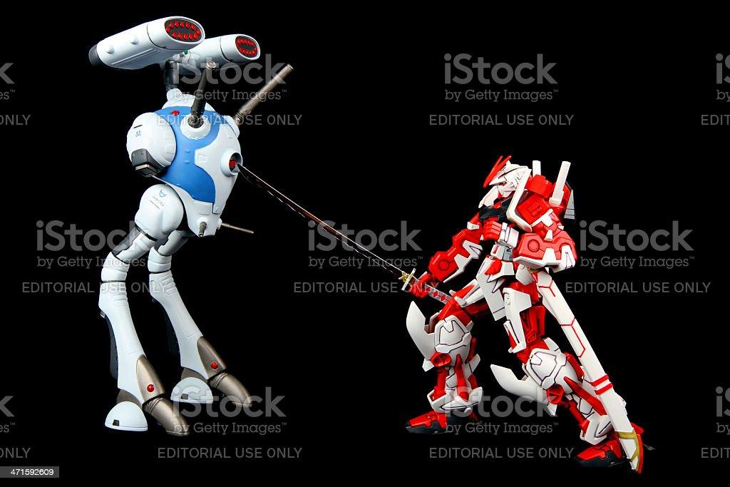Cross Robot Wars stock photo