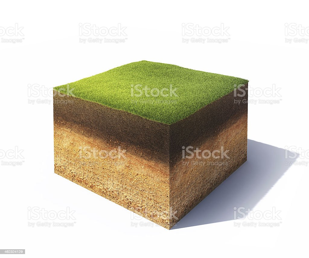 Cross section of ground stock photo