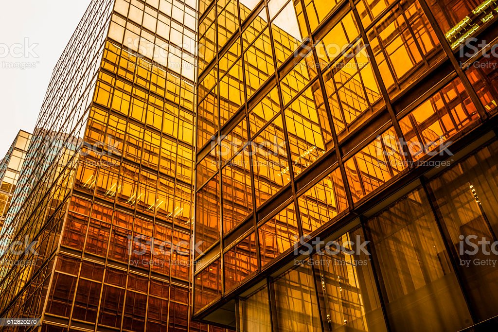 cross section of modern building stock photo