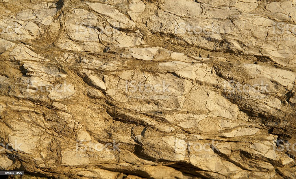 cross section of rock royalty-free stock photo