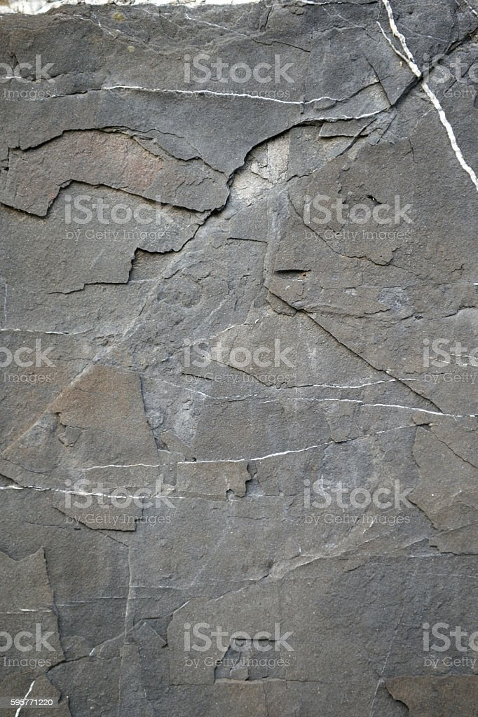 cross section of rock stock photo