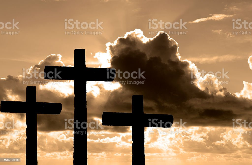 Cross Shape With Dramatic Sky stock photo