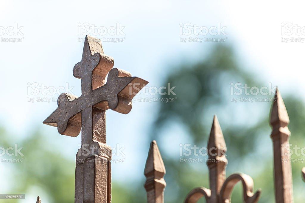 Cross - sign of catholics stock photo