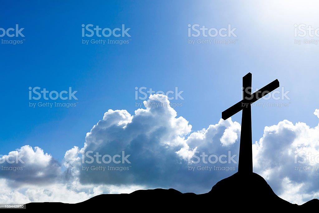 cross silhouette stock photo