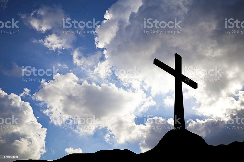 cross silhouette royalty-free stock photo