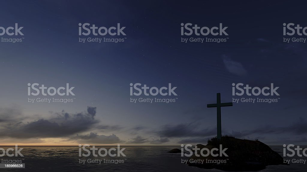 cross  silhouette royalty-free stock photo