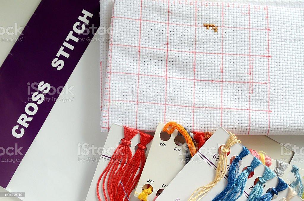 cross stitch royalty-free stock photo